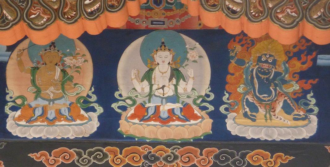 Manjusri-Avalokiteshvara-Vajrapani.