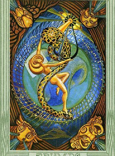 El Mundo - Tarot Thoth - Margit Glassel
