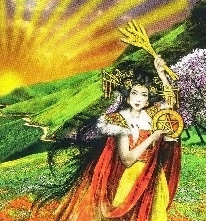 Princesa de Oros - Tarot - Margit Glassel